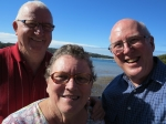 Judy, Jim and Ken meet up at Merimbula